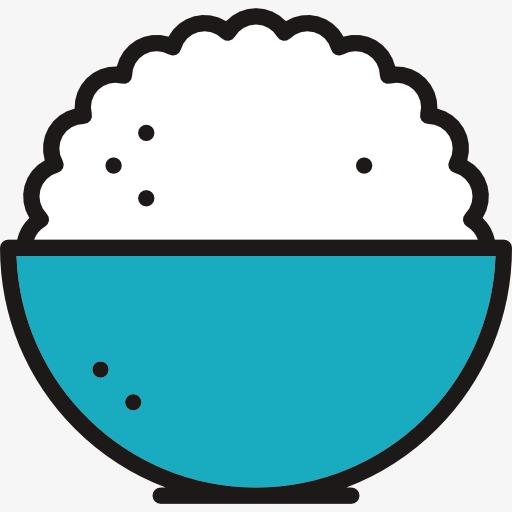 米饭 饭碗 卡通             此素材是90设计网官方设计出品,均做图片