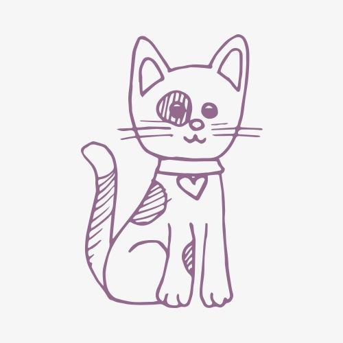 小猫咪简笔画