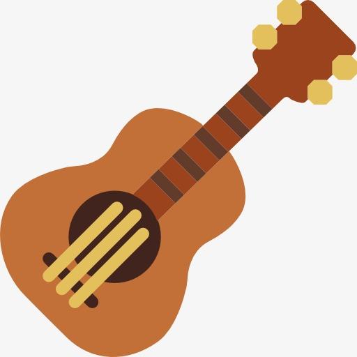 一个卡通的吉他