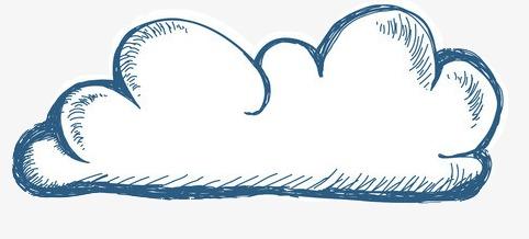 手绘卡通_手绘白云png素材-90设计