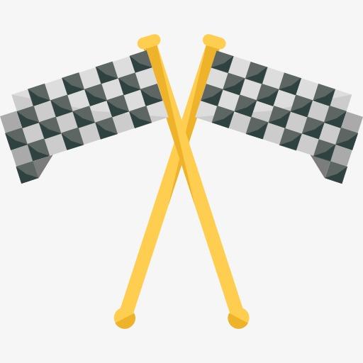 两面赛车旗帜