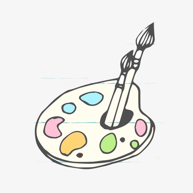 画板 彩色 毛笔 颜料 绘画 手绘             此素材是90设计网官方