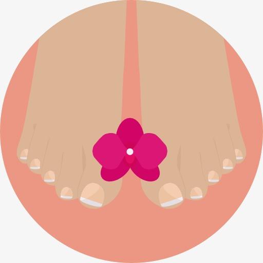 双脚 红花 卡通双脚 红花 卡通png免费下载图片