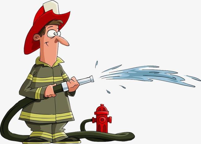 水灭火 消防队员 水带 灭火器 卡通 人物水灭火 消防队员 水带 灭火图片
