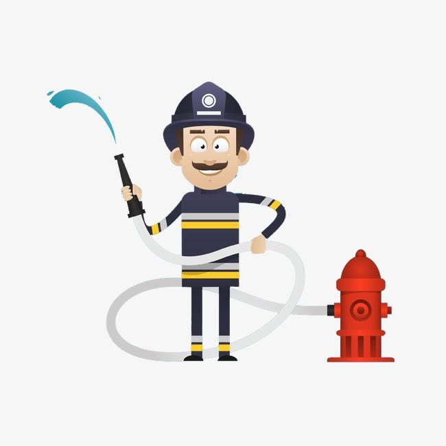 消防员简图灭火器卡通人物卡通素材卡通形象