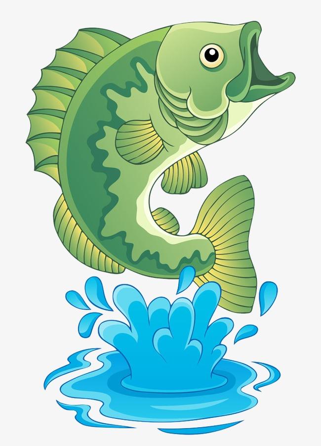 手绘水滴和鱼