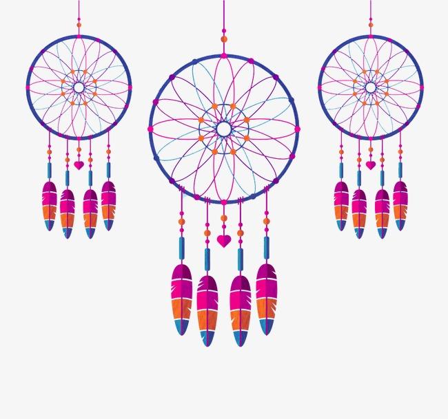 美丽的捕梦网png素材-90设计