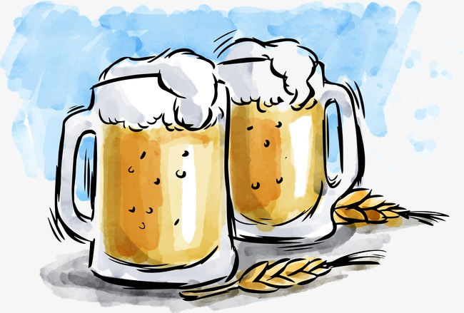 手绘啤酒矢量图