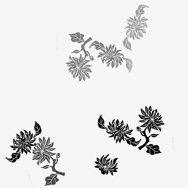 手绘菊花_菊花png素材-90设计