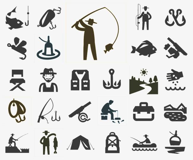 图片 > 【png】 钓鱼鱼杆标志图片  分类:手绘动漫 类目:其他 格式