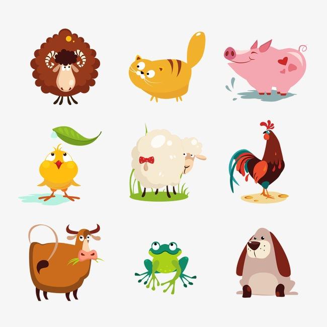 卡通背景_卡通动物图片png素材-90设计