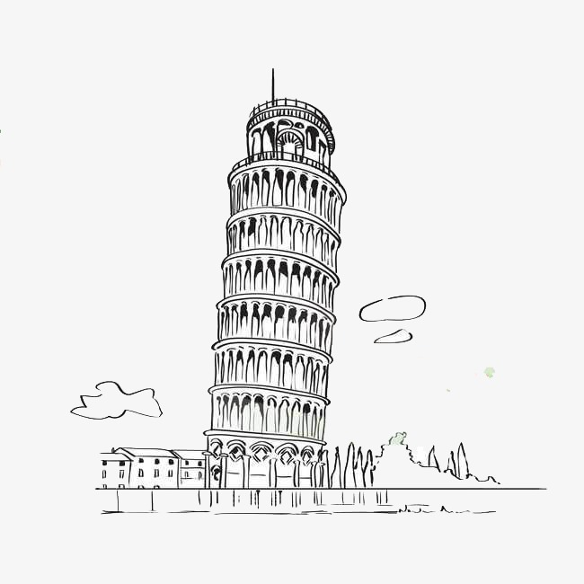 手繪建筑物