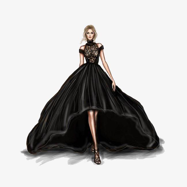 手绘时装礼服