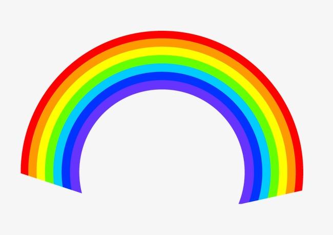 彩虹 手绘彩虹 卡通素材             此素材是90设计网官方设计出品