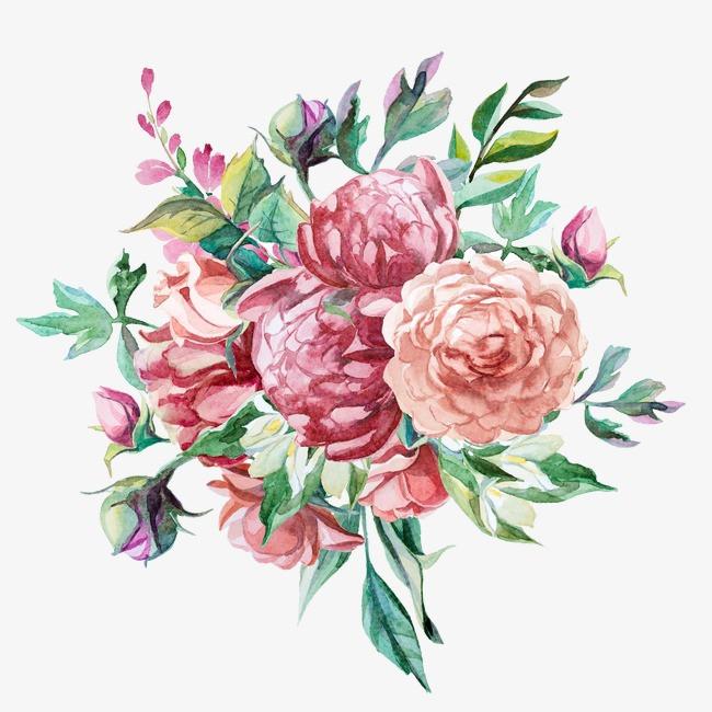 手绘卡通_手绘花卉png素材-90设计图片