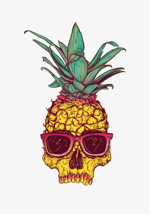 手绘菠萝人物
