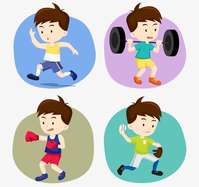 卡通可爱奥运运动小人图片