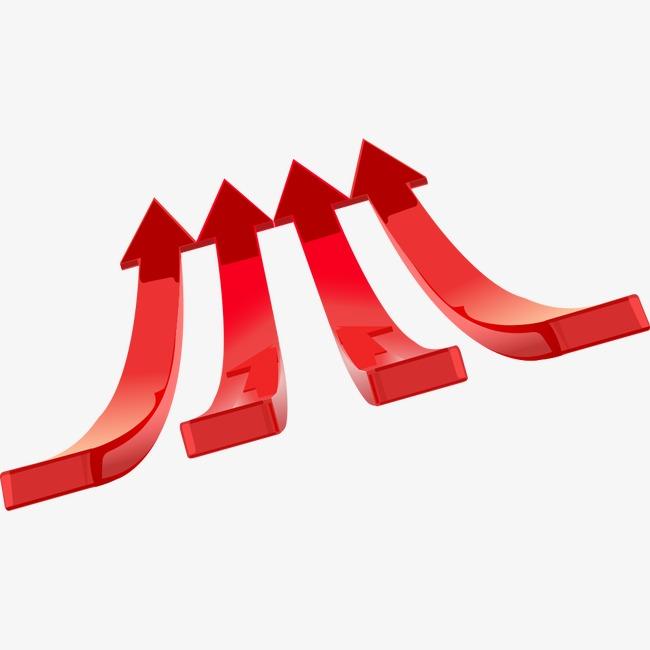 红色向上箭头png素材-90设计