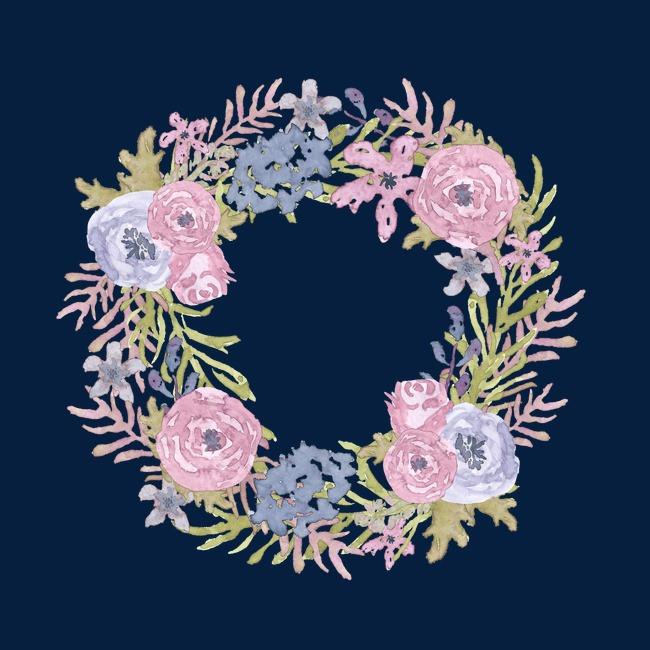 手绘圆圈花
