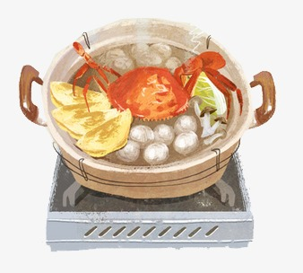 手绘海鲜砂锅素材图片免费下载 高清图片png 千库网 图片编号3557417