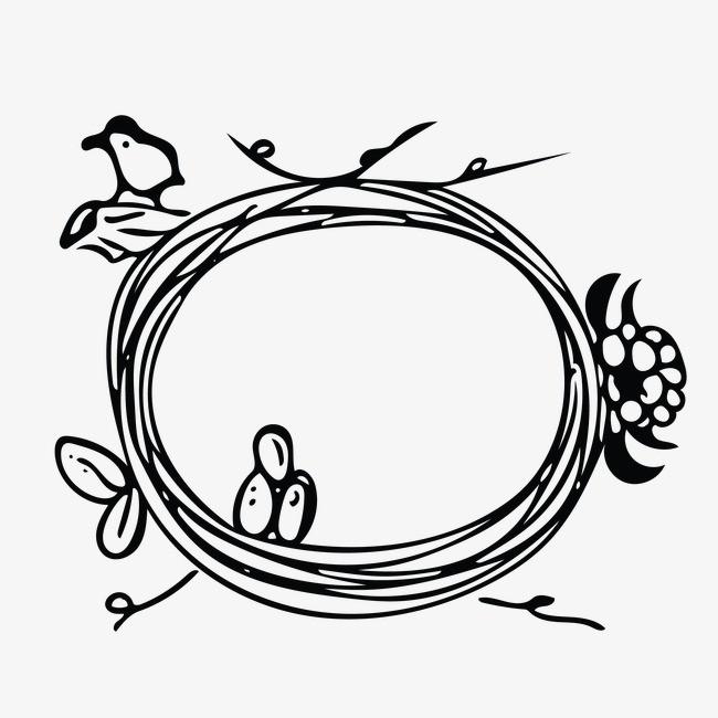 鸟巢平面图简笔画