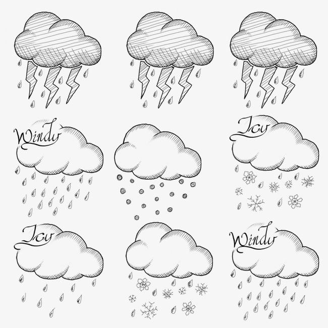 下雨下雪天气图标