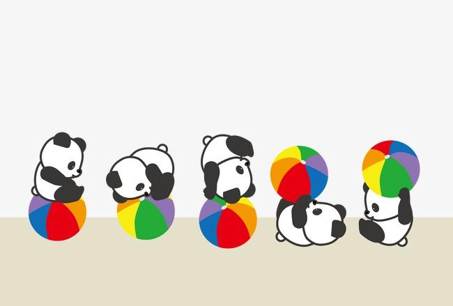 熊猫 玩耍 可爱动物             此素材是90设计网官方设计出品,均