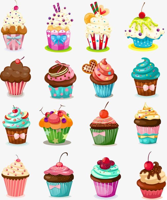 图片> 【png】 扁平化卡通点心小蛋糕 分类:手绘动漫 类目:其他图片