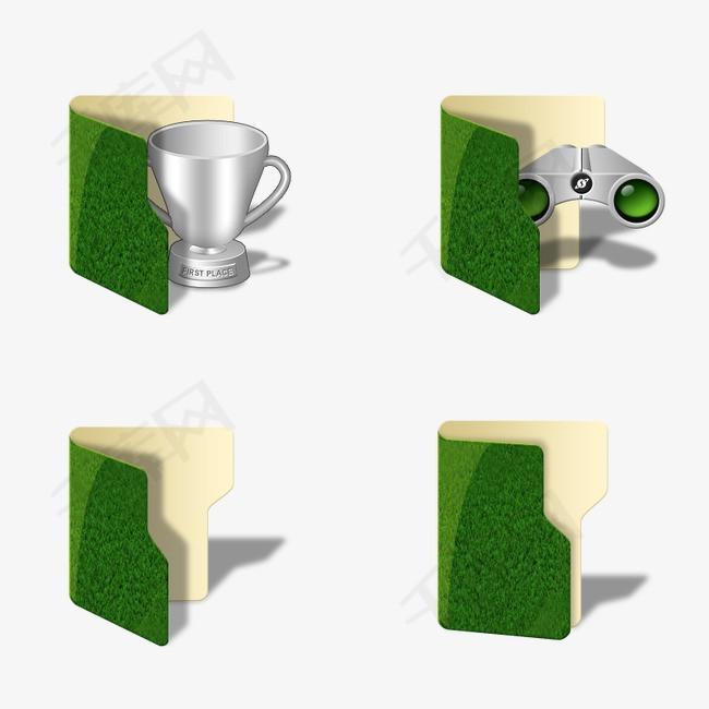 绿色文件夹图标素材图片免费下载 高清psd 千库网 图片编号3572334