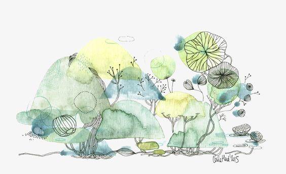 树丛儿童简笔画