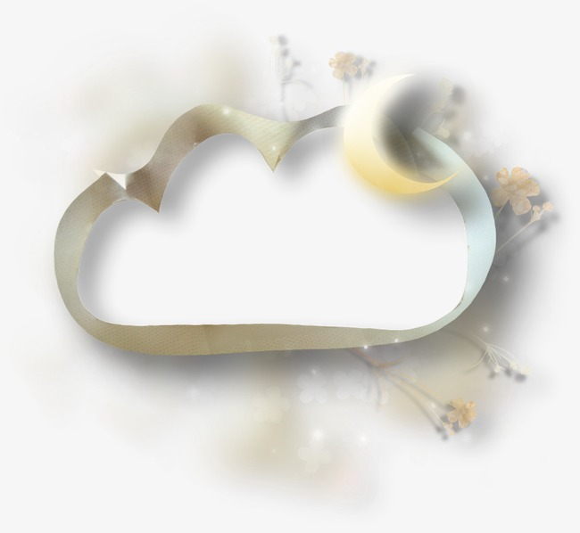 小清新 云朵形状边框