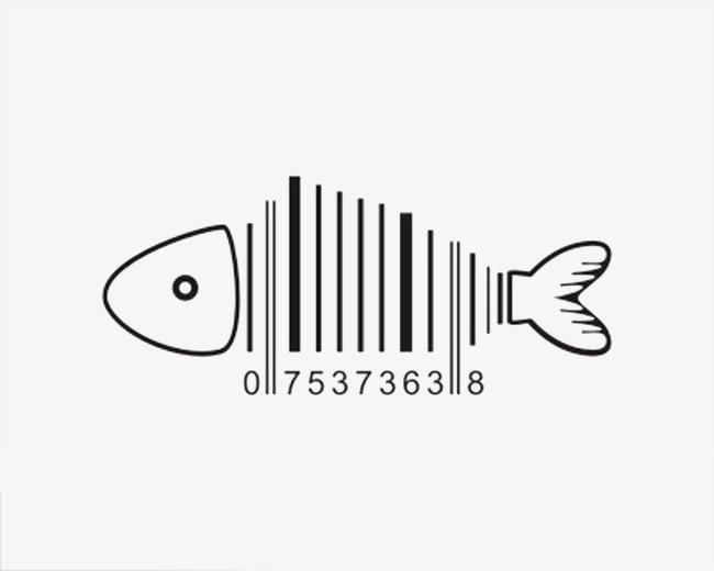 创意鱼形条形码矢量