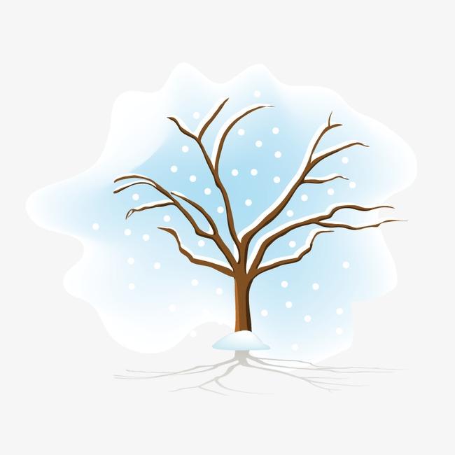 手绘树木四季