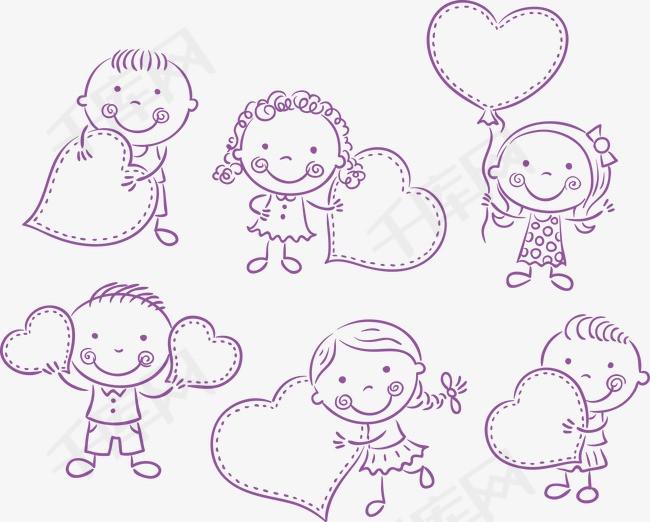 矢量儿童简笔画素材图片免费下载 高清图片pngpsd 千库网 图片编号