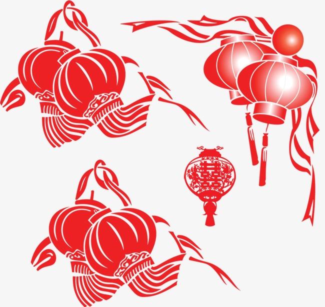 卡通红色喜庆灯笼图标