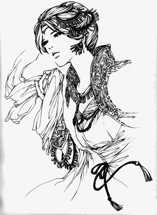 古风美人人物手绘图