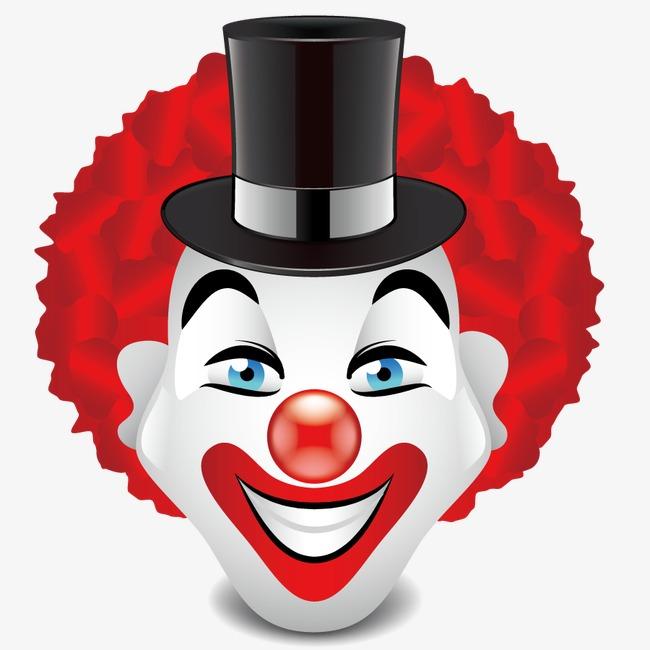 卡通手绘小丑头像