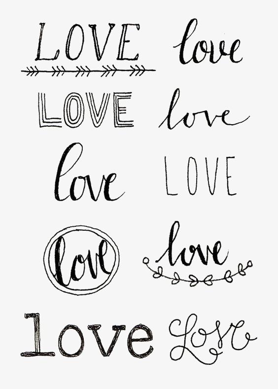 创意英文艺术字love