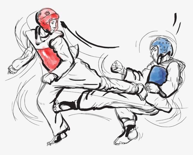 跆拳道矢量图图片