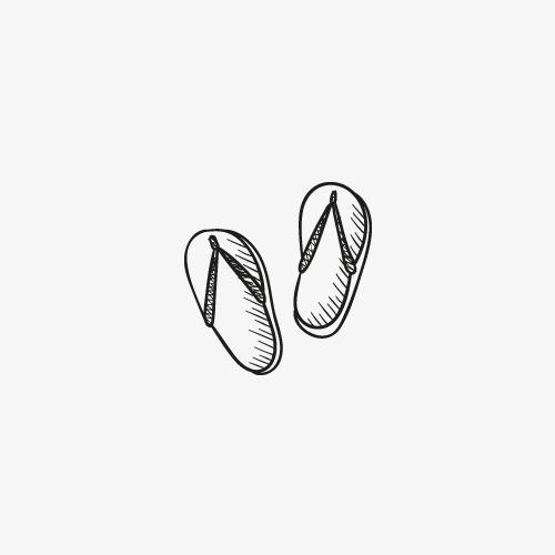 手绘鞋子拖鞋手绘黑白画-手绘鞋子素材图片免费下载 高清卡通手绘