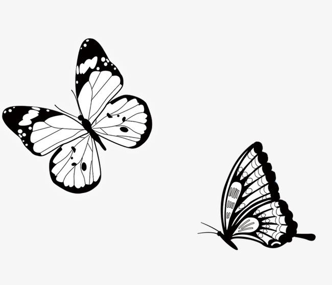 手绘蝴蝶素材图片免费下载 高清卡通手绘png 千库网 图片编号3607719