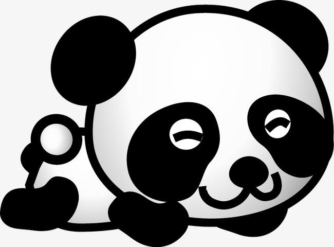 可爱熊猫卡通矢量图