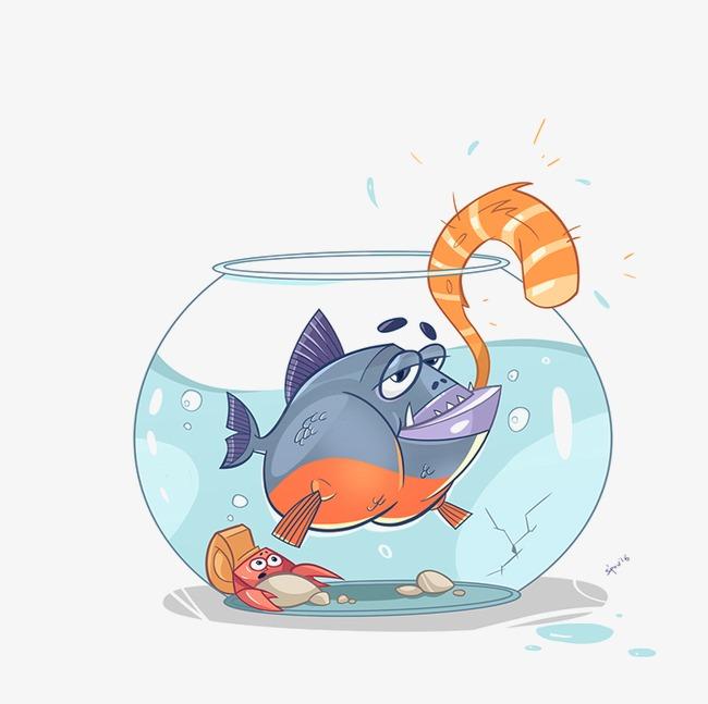 手绘鱼缸【高清png素材】-90设计