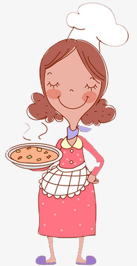 妈妈卡通_卡通手绘妈妈做的饭菜