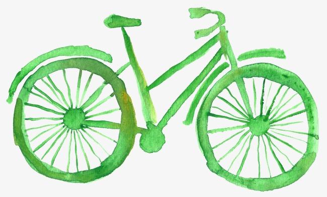 手绘自行车