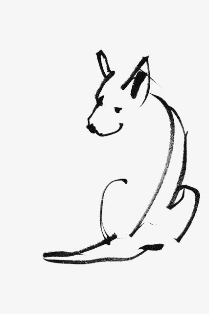 手绘简笔画小狗素材图片免费下载 高清卡通手绘png 千库网 图片编号