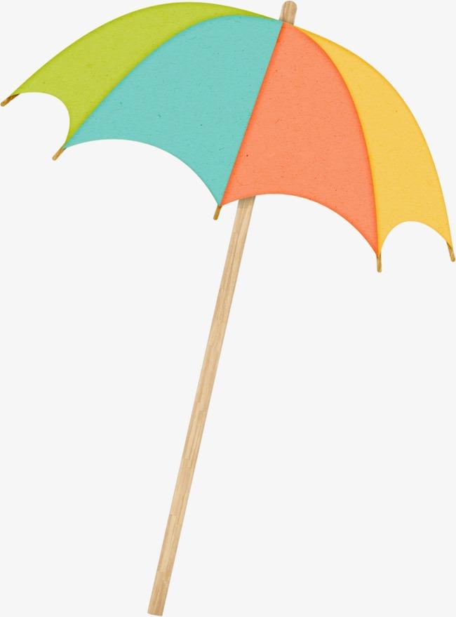 手绘彩色伞