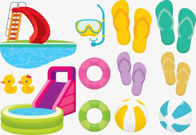 矢量游泳工具圖片