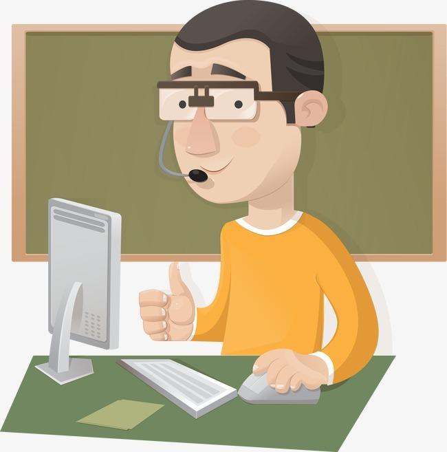 矢量讲课的老师图片