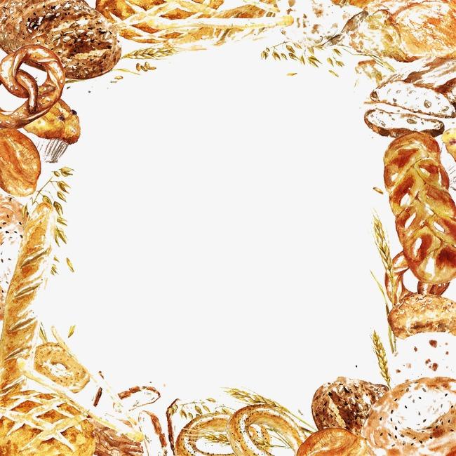精美手绘面包边框